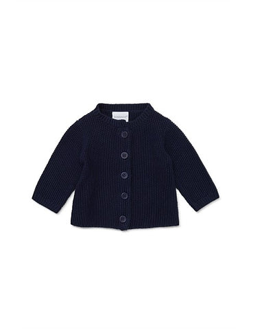 Marquise Cotton Cardigan Navy