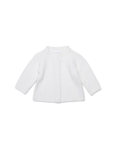 Marquise Knitted Cotton Cardigan White - Prairie Lane Boutique for Kids
