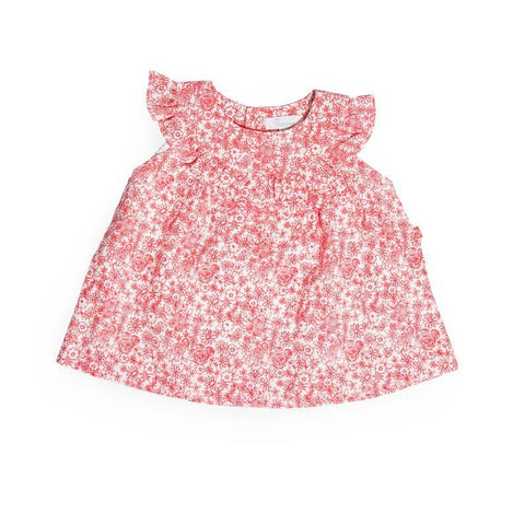 Plum Precious Baby Girl Coral Flowers Dress ON SALE