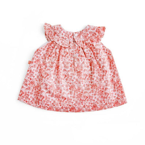 Plum Precious Baby Girl Coral Flowers Dress ON SALE - Prairie Lane Boutique for Kids