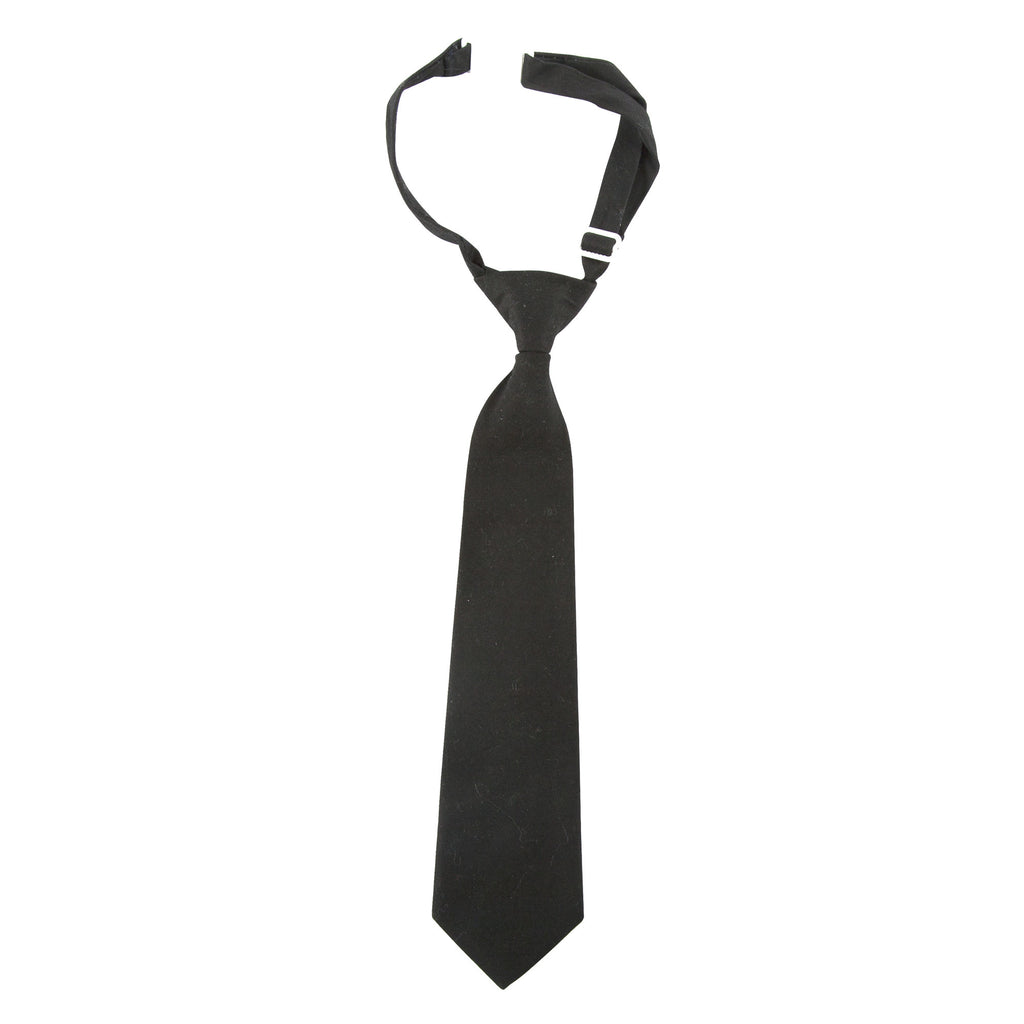 Andy and Evan Charcoal Solid Tie - Prairie Lane Boutique for Kids