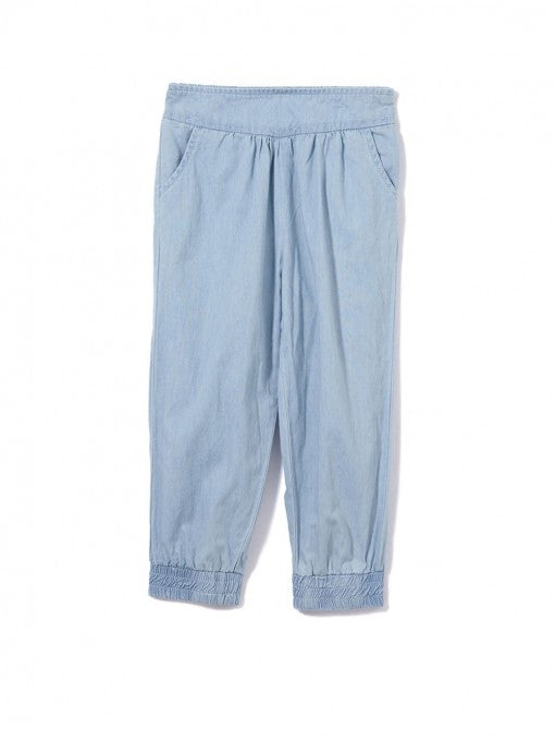 Milky Girls Chambray Pants - Prairie Lane Boutique for Kids