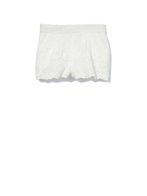 Milky Girls Broderie Short - White