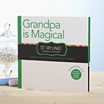 Story Lines Illustrate Your Own Book - Grandpa Is Magical - Prairie Lane Boutique for Kids