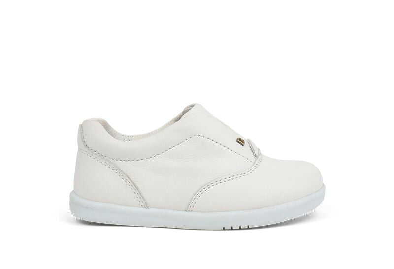 Bobux iWalk Duke Shoe - White - Prairie Lane Boutique for Kids