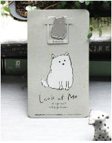 Dog Grey card and Bookmark
