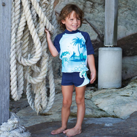 Escargot Swimwear SALE Aloha Sun Top - Prairie Lane Boutique for Kids