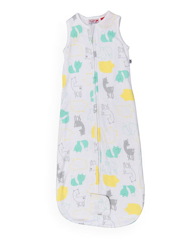 Plum Bamboo Jersey Sleep Bags 1 TOG - Coloured Animal Design ON SALE