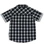 Korango ON SALE Baby Boy Navigator Check Shirt - Black