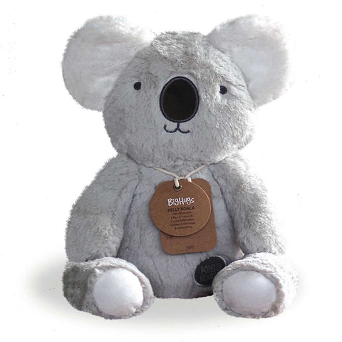 O.B. Designs  KELLY KOALA (GREY) HUGGIE  Grey Koala stuffed animal soft toy ages 0+ Baby Toy - Prairie Lane Boutique for Kids