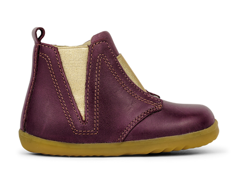 Bobux Step Up Signet Boot plum