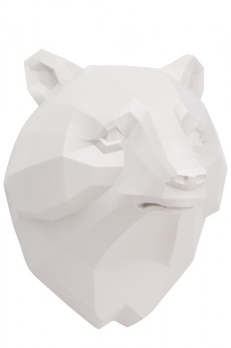 Micky & Stevie Wall Mount - White Bear Head - Prairie Lane Boutique for Kids