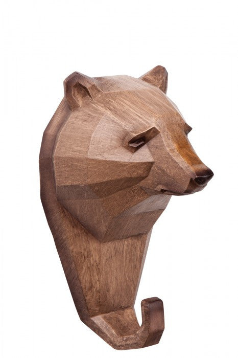 Micky & Stevie Wall Hanger/Hook - Wood Look Bear