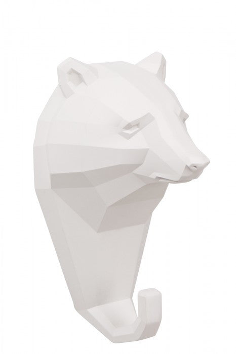 Micky & Stevie Wall Hanger/Hook - White Bear