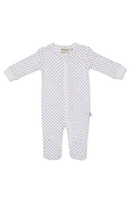 Marquise Baby Tiny Stars Zipsuit - Blue - Prairie Lane Boutique for Kids