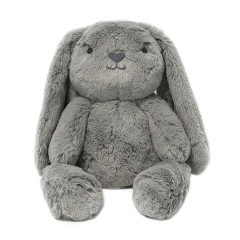 O.B. Designs  Stuffed Animals | Soft Plush Toys Australia | Grey Bunny - Bodhi Bunny Huggie