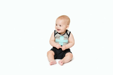 Eeni Meeni SALE Enfant Boy Singlet - Grey Marle - Prairie Lane Boutique for Kids