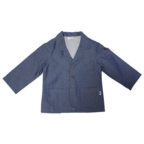 Daisy and Moose Boys Chambray Blazer - Prairie Lane Boutique for Kids
