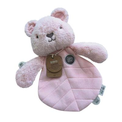 OB Designs Comforter Claire Bear (Pink)-ob Designs-baby-toy-baby-girl-toy-stuffed toy-soft-toy