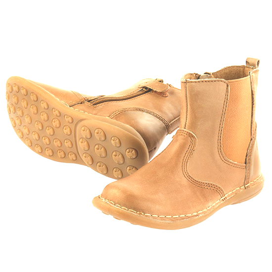 Red Bootie Dave Boys Leather Ankle Boot - Tan ON SALE