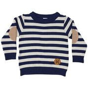 Korango Aeroplanes Striped Knit Sweater - Prairie Lane Boutique for Kids