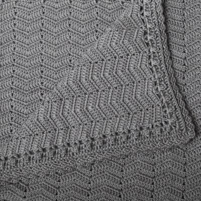 OB Designs Natural Handmade Crochet Blanket GreyCrochet Baby Blanket | Handmade Grey | OB Designs - Prairie Lane Boutique for Kids