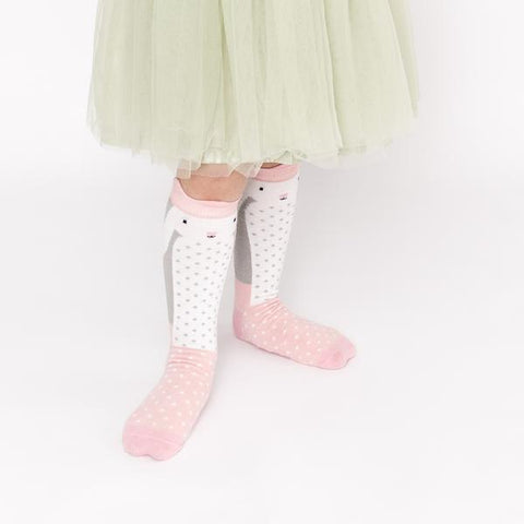 Billy Loves Audrey Knee High Socks - Rabbit ON SALE - Prairie Lane Boutique for Kids