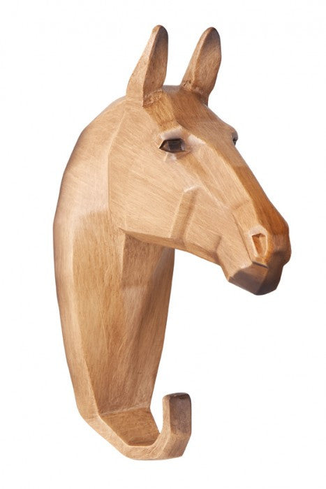 Micky & Stevie Wall Hanger/Hook - Wood Look Horse - Prairie Lane Boutique for Kids