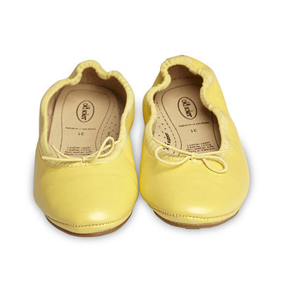 Old Soles OLDER Cruise Ballet Flats - Lemon Metallic ON SALE