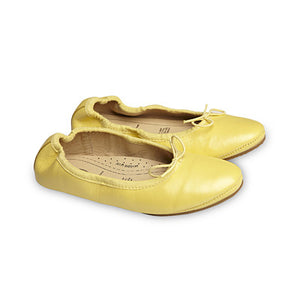 Old Soles OLDER Cruise Ballet Flats - Lemon Metallic ON SALE - Prairie Lane Boutique for Kids