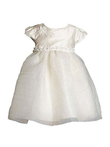 Heritage Girls Elise Christening/Flower Girl Dress - Antique White