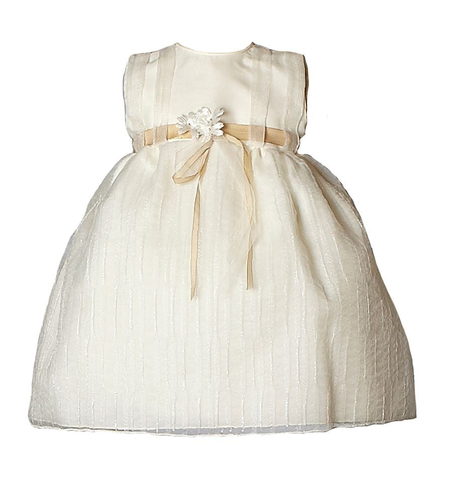 Heritage Girls Jasmine Christening/Flower Girl Dress - Antique White - Prairie Lane Boutique for Kids