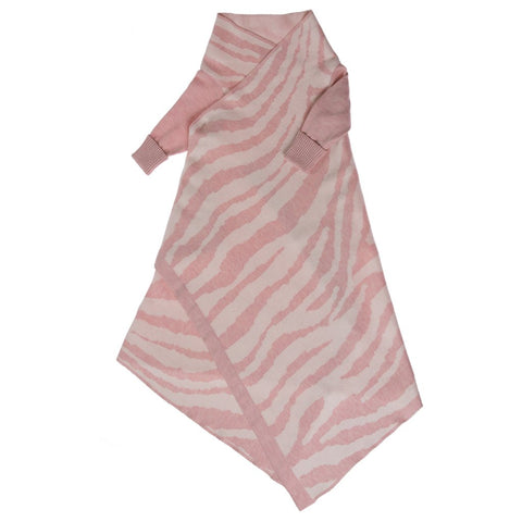 Animal Pattern Shwrap Blush Pink / Ecru