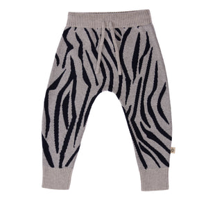 Jujo Baby Zebra Patterned Pant - Navy Silver - Prairie Lane Boutique for Kids