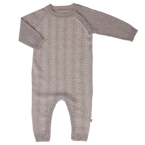 Jujo Baby Onesie - Feathered Line - Silver Ecru - Prairie Lane Boutique for Kids