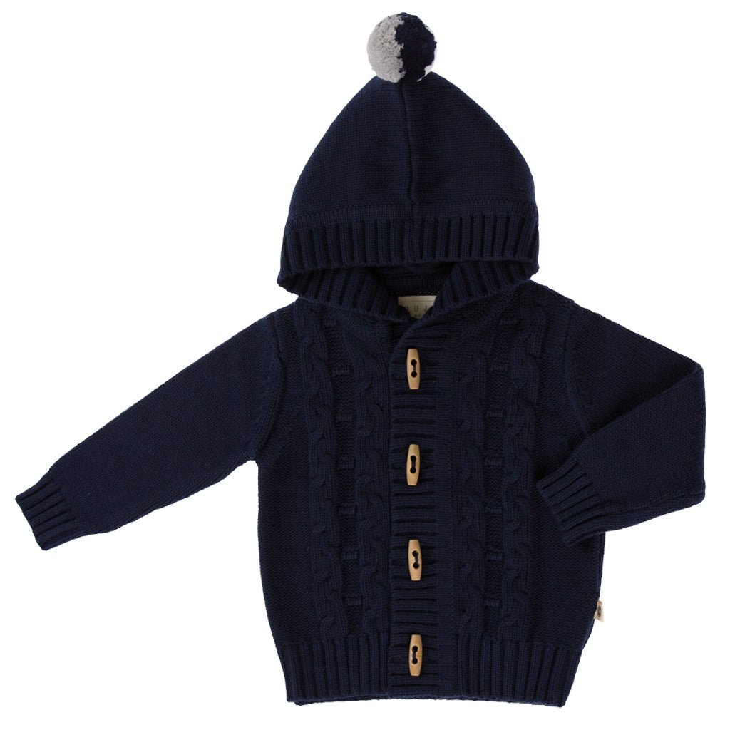 Jujo Baby Cable Jacket - Navy - Prairie Lane Boutique for Kids