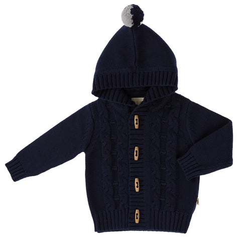 Jujo Baby Cable Jacket - Navy