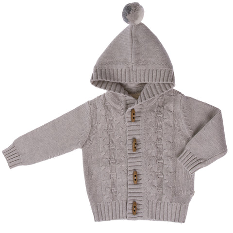 Jujo Baby Cable Jacket - Silver