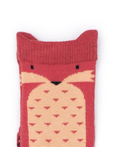 Billy Loves Audrey Knee High Socks - Fox ON SALE - Prairie Lane Boutique for Kids