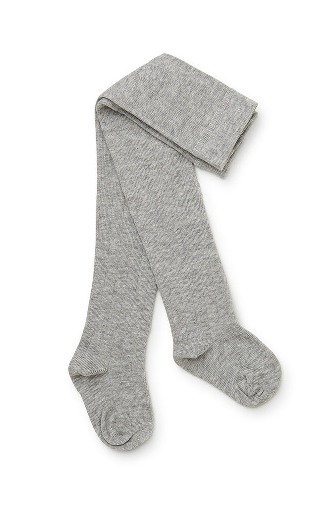 Marquise Tights knit Cotton - Grey Marle - Prairie Lane Boutique for Kids