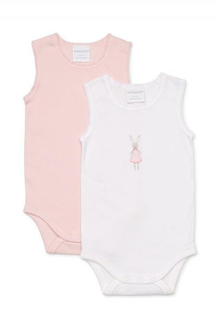 Marquise Baby Two Pack Body Singlet - Bunny Girls