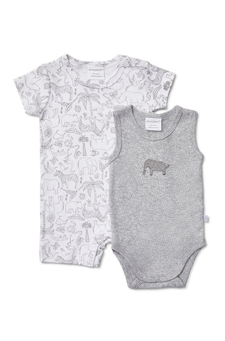 Marquise 2 pack Romper and Bodysuit Zoo