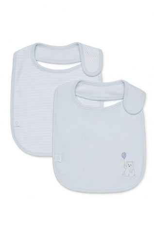 Marquise 2 Pack Bib - Bear (Blue)