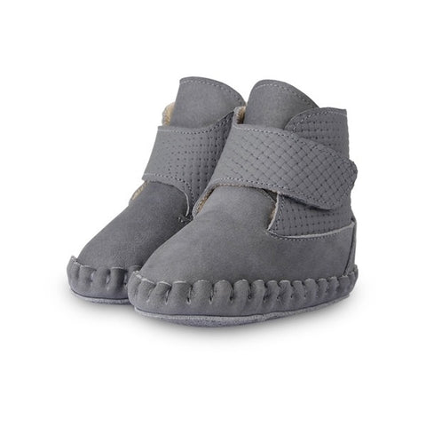 Donsje Grey Suede Nubuck leather boots