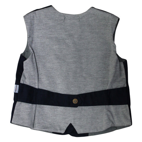 Daisy and Moose Boys Navy Vest - Prairie Lane Boutique for Kids