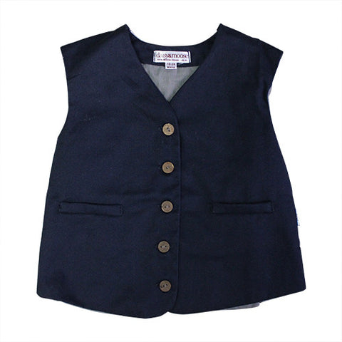 Daisy and Moose Boys Navy Vest