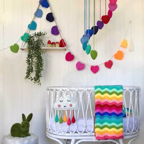 O.b. Designs  Rainbow Heart Mobile - Prairie Lane Boutique for Kids