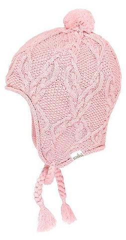 Toshi Organic Beanie Earmuff Bowie Colours Blush, Cream - Prairie Lane Boutique for Kids