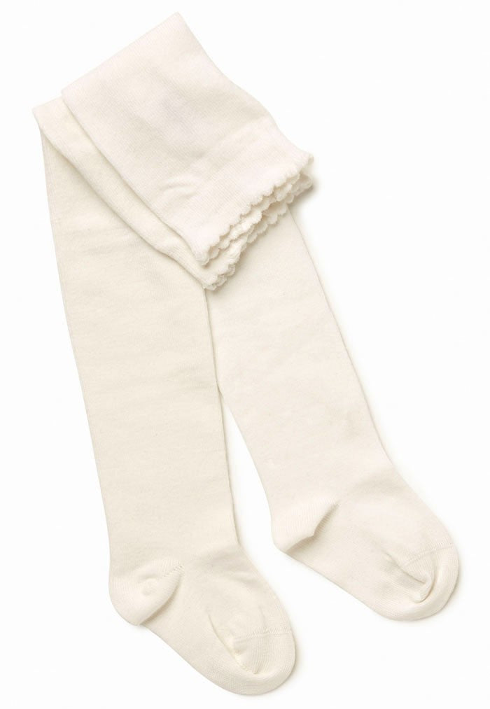 Marquise Tights Knitted Cotton - White - Prairie Lane Boutique for Kids