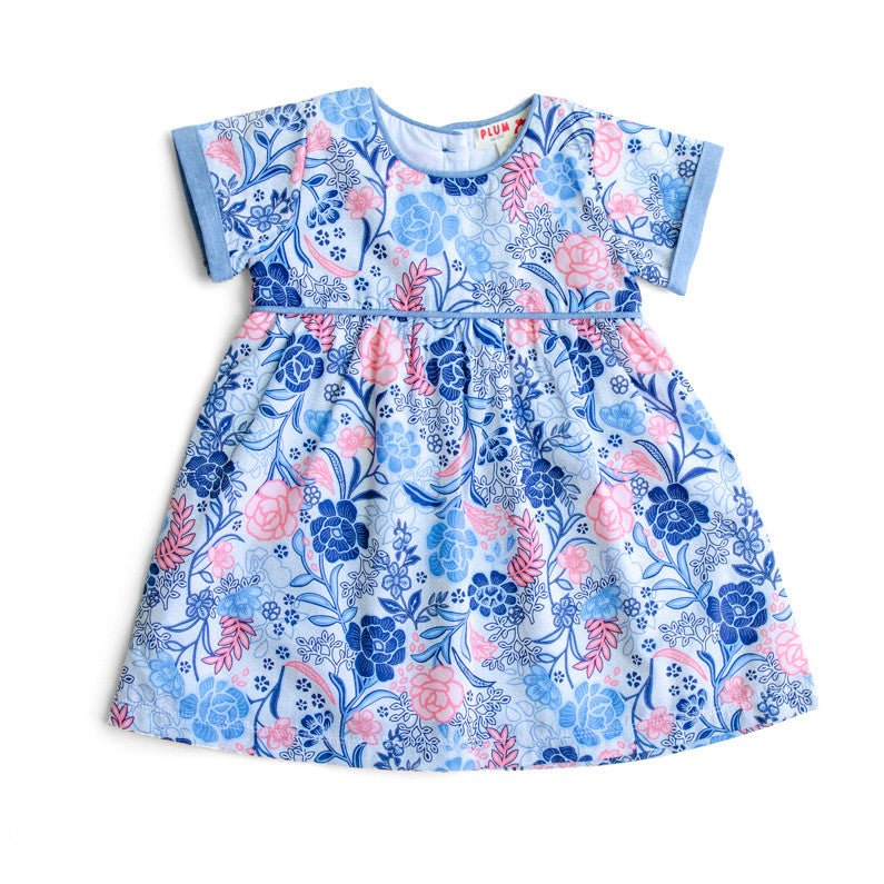 Plum Baby Girl Floral Print Dress ON SALE - Prairie Lane Boutique for Kids
